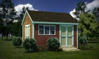 12 x 16 Storage Shed Plans Gable Roof Step By Step How To Build Guide