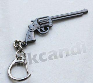 Special keyring Gun revolver pistol black Key Chains keyfobs KGA41