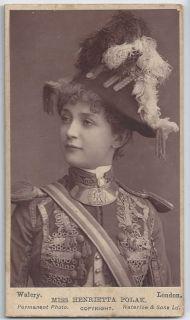 Polak, Victorian actress and singer. Rare Victorian CDV. Theatre