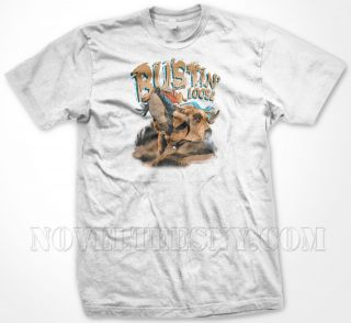Loose  Bull Riding Cowboy Boots Western Country Sports   Mens T shirt