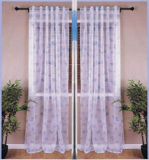 KIDS ROOM Blue BUTTERFLY Panel Sheer Curtain 57 x 96, NEW SEALED