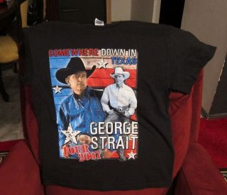 tour t shirt 2007 george strait taylor swift some where down in texas