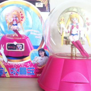 RARE ! Bandai Sailor Moon Fortune Telling Crystal Ball Toy Figure