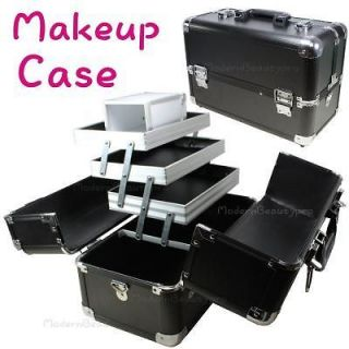 Beauty Makeup Cosmetic Nail Art Technician Train Aluminum Box Bag Case
