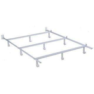 Powder Coated Steel Bed Frame with Tubular Side Rails