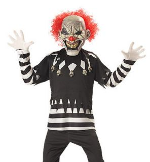 Boys Glow In The Dark Evil Clown Kids Scary Costume