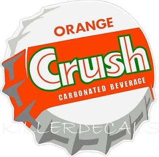 12 ORANGE CRUSH SODA COCA COLA PEPSI COOLER POP MACHINE DECAL STICKER