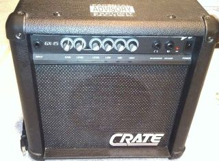 Crate GX 15 Electric Guitar Amplifier Sounds Great!!!!