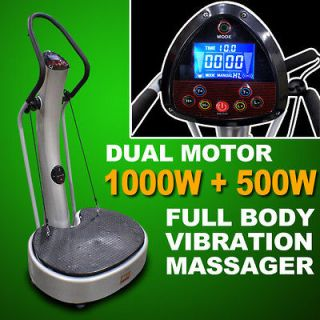 1500W Dual Motor Whole Body Power Vibe Plate Vibration Exercise