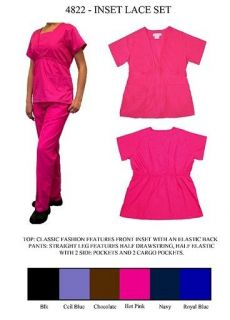 NWT Womens Nursing Uniform Scrub Set ~ Choose Color & Size ~ XS   XL