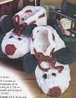 Crochet Pattern KIDS ADULT LOOPY SLIPPERS