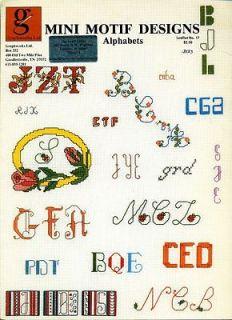 ALPHABETS Cursive Floral ABCs Cross Stitch Pattern Leaflet Chart