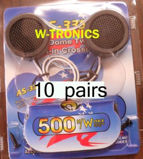 500 Watts Nitro BMW 309 Soft Dome Car Tweeters W/ Built in Crossover