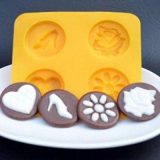 Cream Cheese Mint Mold 4 cavity Wedding Set #2 NEW by CK candy fondant