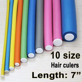 SOFT BENDY HAIR ROLLERS Foam Curlers in Rollers, Curlers