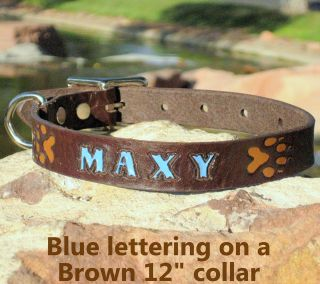 Brown 3/4 Custom Handmade Real Genuine Leather Dog Collar