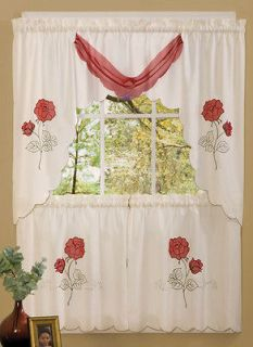 Red kitchen curtains in curtains drapes amp valances