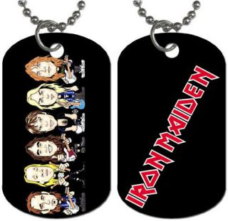 New Iron Maiden British Heavy Metal Dog Tag Necklace 1