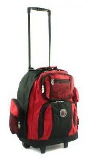 Travel Deluxe 18 Rolling Backpack Laptop School Book Bag Travel Carry