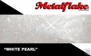 WHITE PEARL METALFLAKE 25G CUSTOM PAINT FLAKE FLAKES