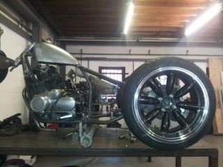 TRIKE FRAME BY HARD UP CHOPPERS! SUZUKI CUSTOM CHOPPER RIGID BOBBER
