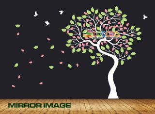 Decal Sticker Removable vinyl large Dancing Tree Birds 68 DC028968