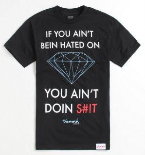 Diamond Supply Company Hated On Mens Black T Shirt NWT NEW