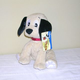 DISNEY MICKEY & FRIENDS 101 DALMATIANS PLUSH DOG w/ TAGS   RATTLES