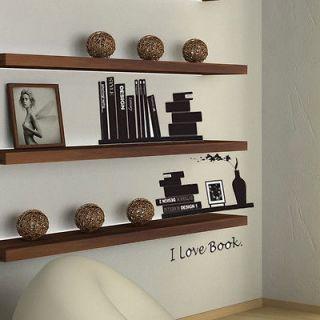 2012newI Love Reading Book Books Wall Sticker Decor Decals Vinyl Art