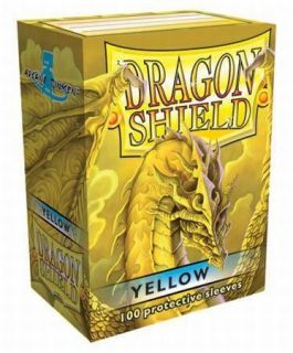 DRAGON SHIELD YELLOW 100 DECK PROTECTIVE CARD SLEEVES MAGIC THE
