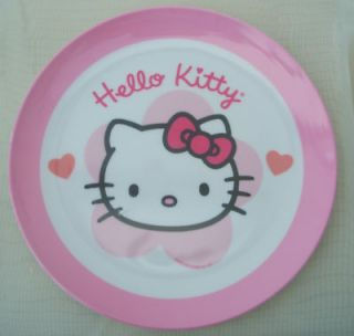 SANRIO PINK HELLO KITTY DESIGN MELAMINE PLASTIC BABY GIRL CHILD KID