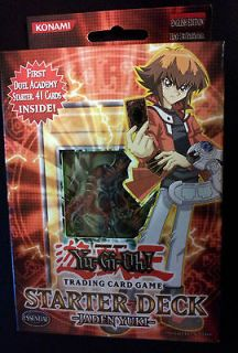 YUGIOH STARTER DECK JADEN YUKI 1ST EDITION NEW & SEALED YSDJ