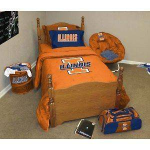 Illinois Fighting Illini Bed in a Bag Twin / Twin XL