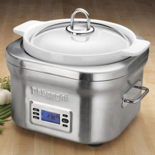 DeLonghi DCP707 Stainless Steel Programmable Slow Cooker with touch