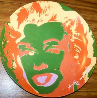 Andy Warhol Collectors Decorative Plate BLOCK Marilyn Monroe Pop Art