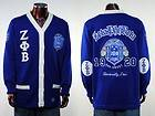 Zeta Phi Beta Blue Long Sleeve Cardigan sweater S 3XL