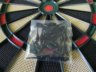 NEW BLACK Dimpled DART TIPS for All Electronic Dart Boards 1/4 Thread