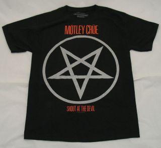 MOTLEY CRUE Shout at the Devil Logo S M L XL tee t Shirt NEW