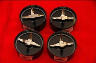FOUR BRAND NEW CROSS BLADES W/ 8 GASKETS FOR THE MAGIC BULLET   FAST