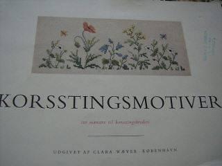 Clara Waever Copenhagen Cross Stitch Book Flowers RARE