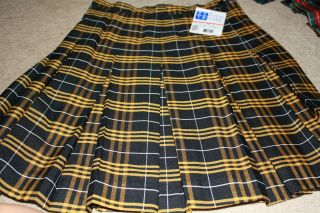 ROYAL PARK 143 2V YELLOW PLAID SCHOOL SKIRTS NEW