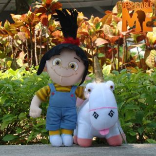 Despicable Me Plush Character Agnes & Unicorn Toy Soft Stuffed Animal