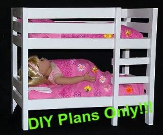 Bunk Bed designed for 18 Doll (American Girl or Maplelea) DIY Plan