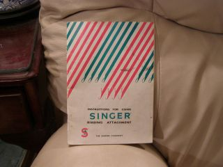 SINGER SEWING KNITTING MACHINE RIBBING ATTACHMENT INSTRUCTIONS MANUAL