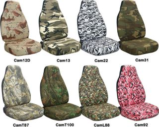 150 front set 60/40 camouflage car seat cover CHOOSE your COLOR