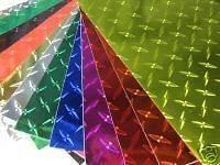 Diamond Plate Sign Vinyl, 3 sheets 8x12, Choose Your Colors