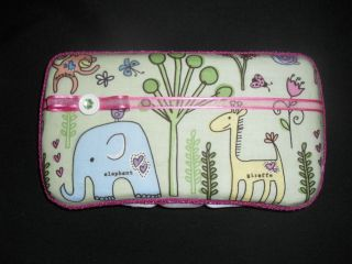 Pink & Green Safari Jungle Animals Baby Wipes Case