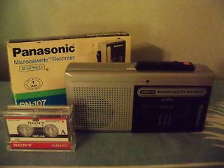 Vintage Panasonic RN 107 2 Speed Micro Cassette Recorder 2 60 Minute