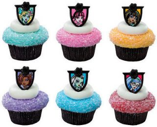 BULK MONSTER High Clawdeen Draculaura 144 Cupcake RINGS Toppers Cake