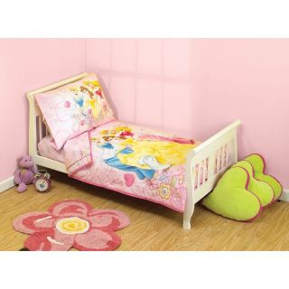 Disney Princess Enchanted Tales Toddler Comforter/Crib Bedding Set